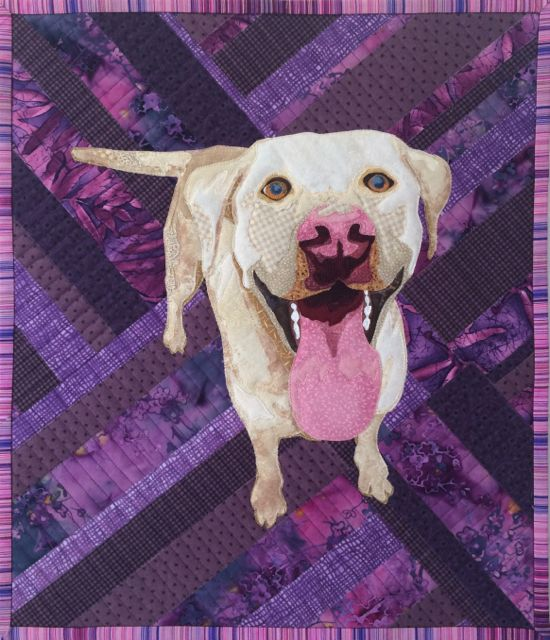 quilted pet portrait