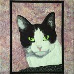 quilted pet portrait, cat portrait