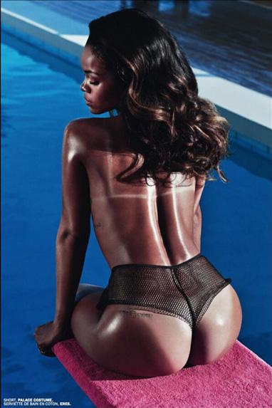 rihanna lui spread 01 Rihanna Goes Topless Says F*ck Clothing For Lui Magazine
