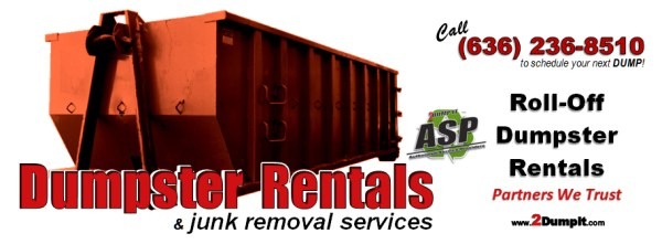 2 DUMP IT Roll Off Dumpster Rentals - St Louis MO