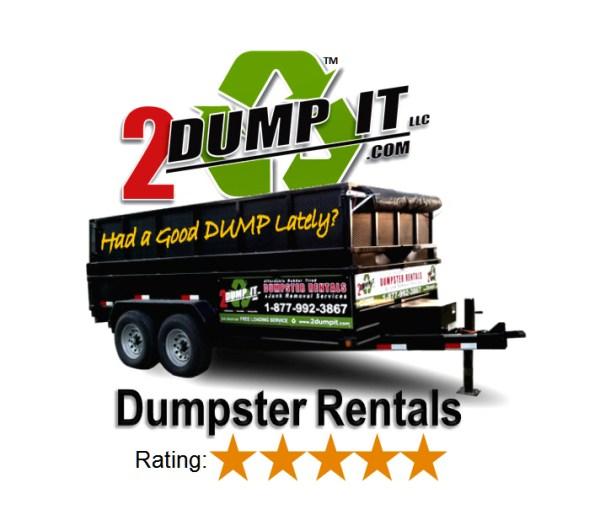 2 DUMP IT™ Dumpster Rentals   5 Star Company