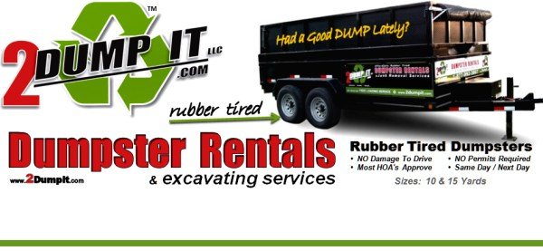2 DUMP IT Dumpster Rental St Louis MO - Rubber Tired Dumpsters