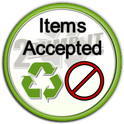 Acceptable Items 2 DUMP IT Dumpster Rentals