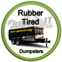 Rubber Tired Dumpster Rentals