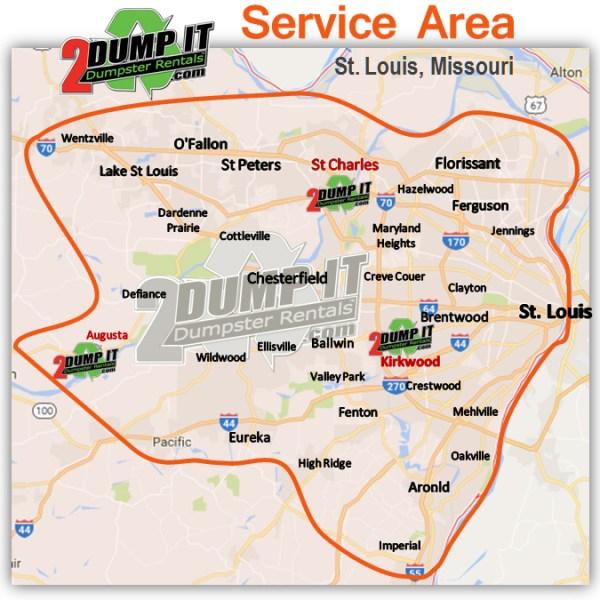 2 DUMP IT St. Louis Dumpster Rental Service Area