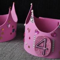 Cómo hacer una corona de cumpleaños de goma EVA reutilizable