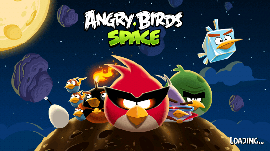 Loading Angry Birds Space