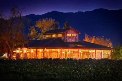 2Hawk Vineyard and Winery Tasting Room Night Shot