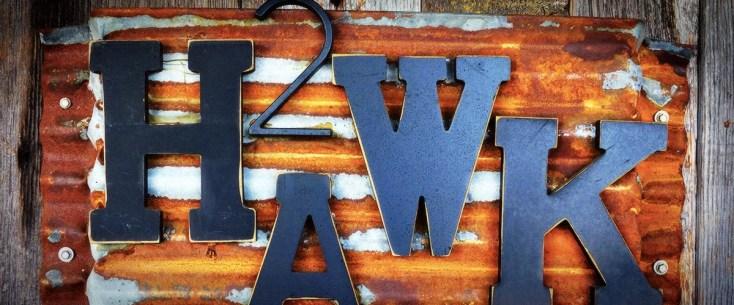 2Hawk Vineyard and Winery Exterior 2Hawk Reclaimed Metal Signage