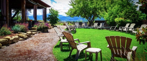 Lawn Chairs Set up for Outdoors Event at 2Hawk Vineyard and Winery