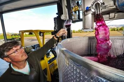 2Hawk Vineyard and Winery Winemaker Kiley Evans Testing Wine