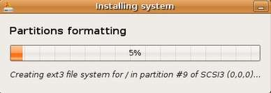 partition formatting