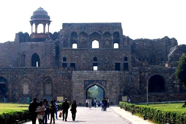 Inside shot of entrance gate of Old Fort, Delhi
