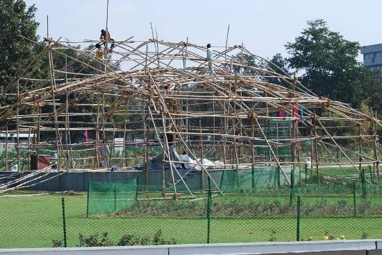 scaffolding, business, stage, stage setting