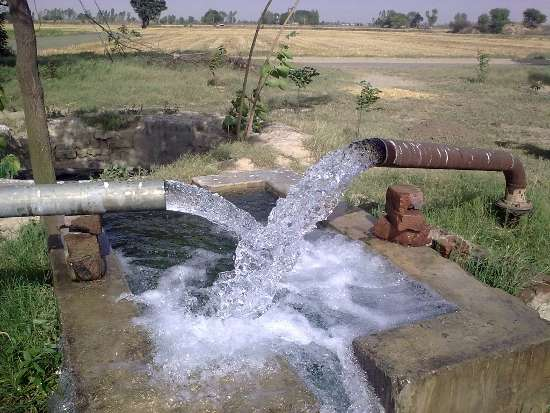 Fresh water used for irrigation