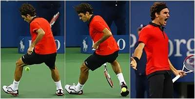 ROGER FEDERER SPECIAL: BETWEEN THE LEGS SHOT