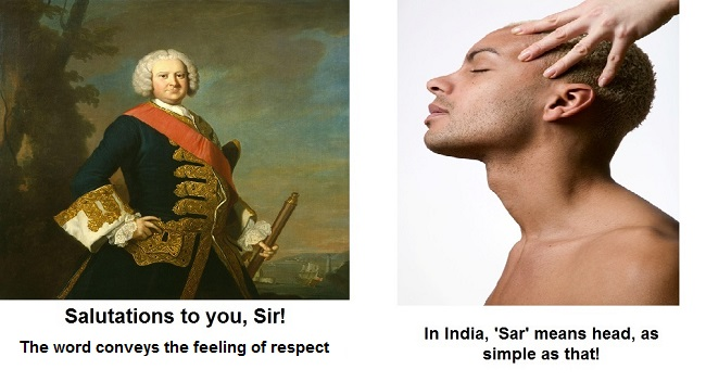 Difference in meanings of word in America and India