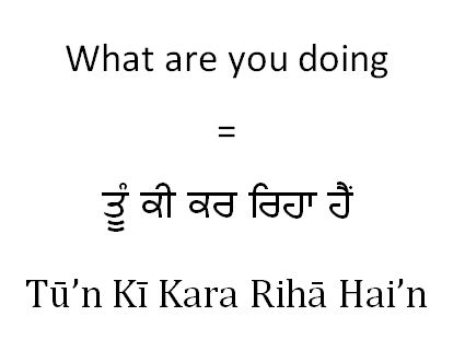 What are you doing in Punjabi (male younger)