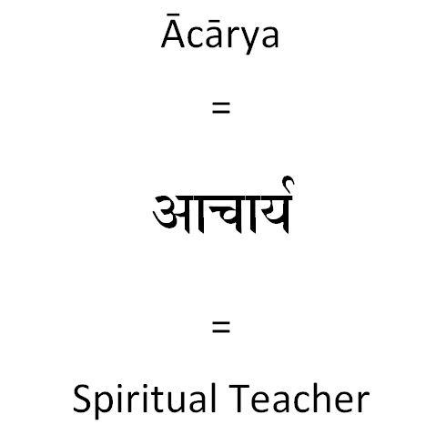 Sanskrit-Word-Acharya