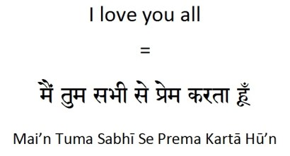 How to say I love you all in Hindi (1)