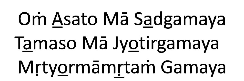 Sanskrit Mantra Asto Ma