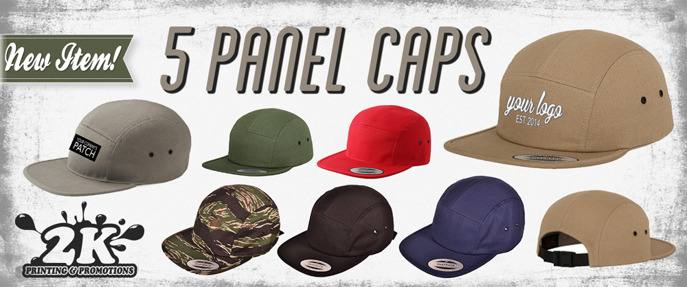 Custom 5 Panels by 2K Printing   Promotions - Embroidered Hats   More! 1a2f4dbebeb