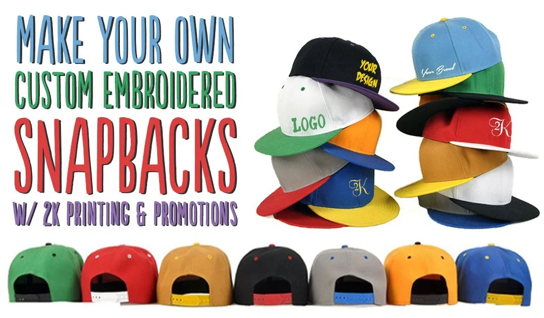 Custom Embroidered Hats – Snapbacks, Flat Brims, Two-Tones & Much More!