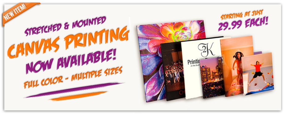 Mounted Stretched Canvas Image & Photo Printing Now Available And On Sale!