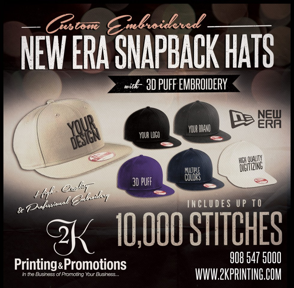 0a3dfda66d7 Snapbacks   Other New Era Hats with Custom 3D Puff Embroidery