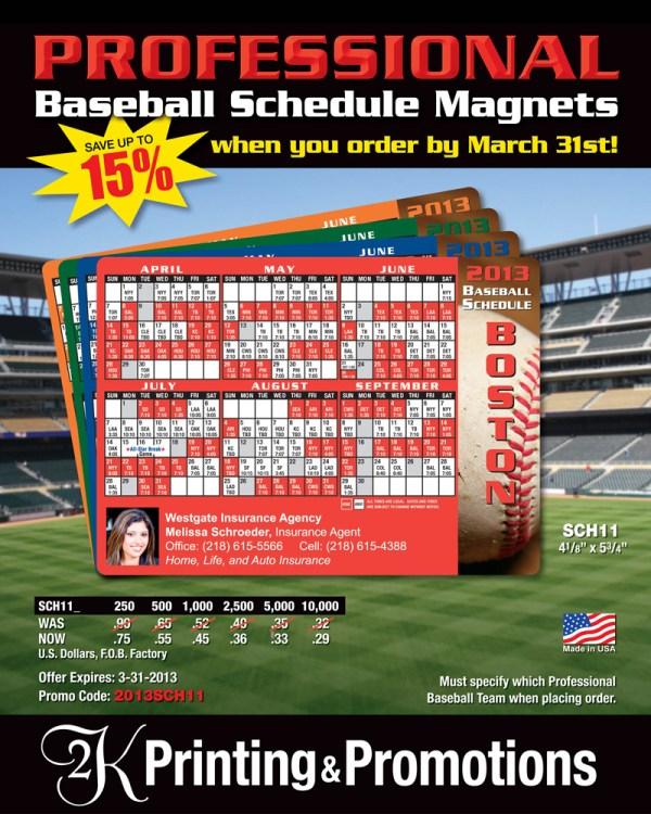 Custom-Logo-Baseball-Shedule-Magnet-Special