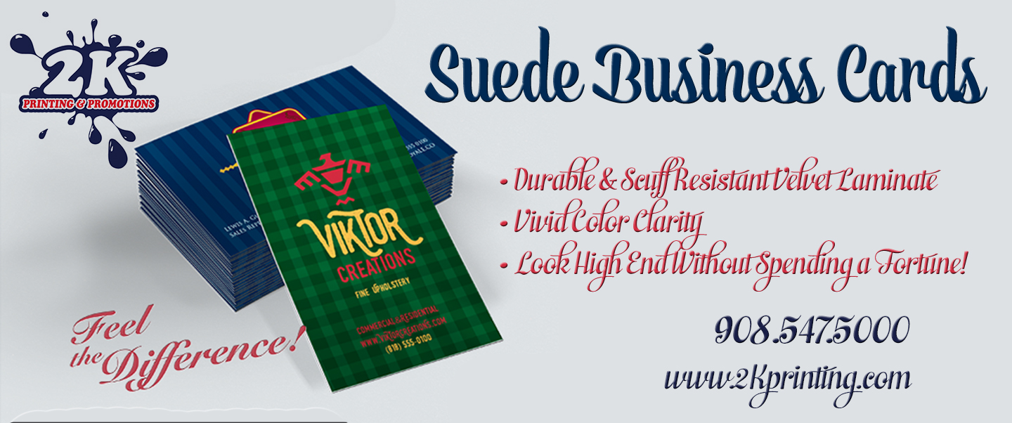 Suede Business Cards from 2K will Create a Lasting Impact!
