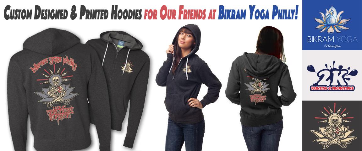 Yoga Merch! Custom Designed & Printed Hoodies For Bikram Yoga Philly