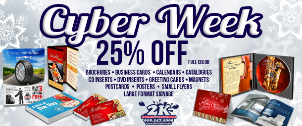 Cyber Sales Week At 2K Printing On Full Color Marketing Materials