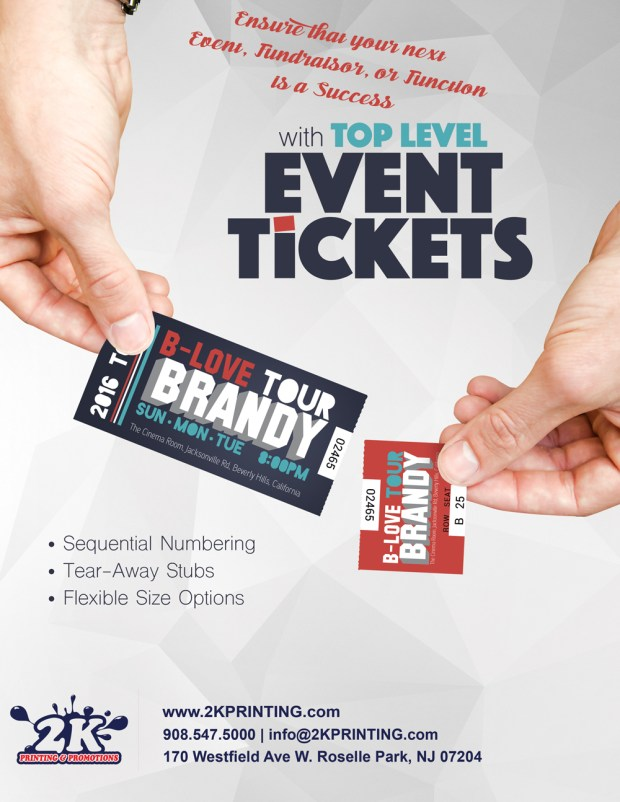 Custom Event Tickets from 2K Printing & Promotions