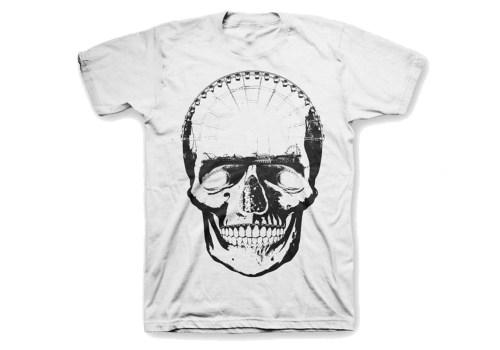 Prime Grime – White Skull T-Shirt