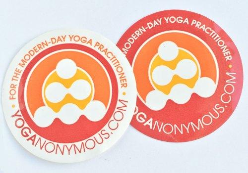 Yoganonymous Round Stickers