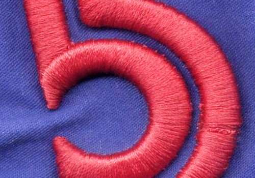 3D Puff Embroidery Closeup