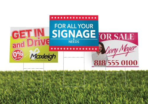 Lawn Signs, Rigid Signs, Coroplast Signs & More!