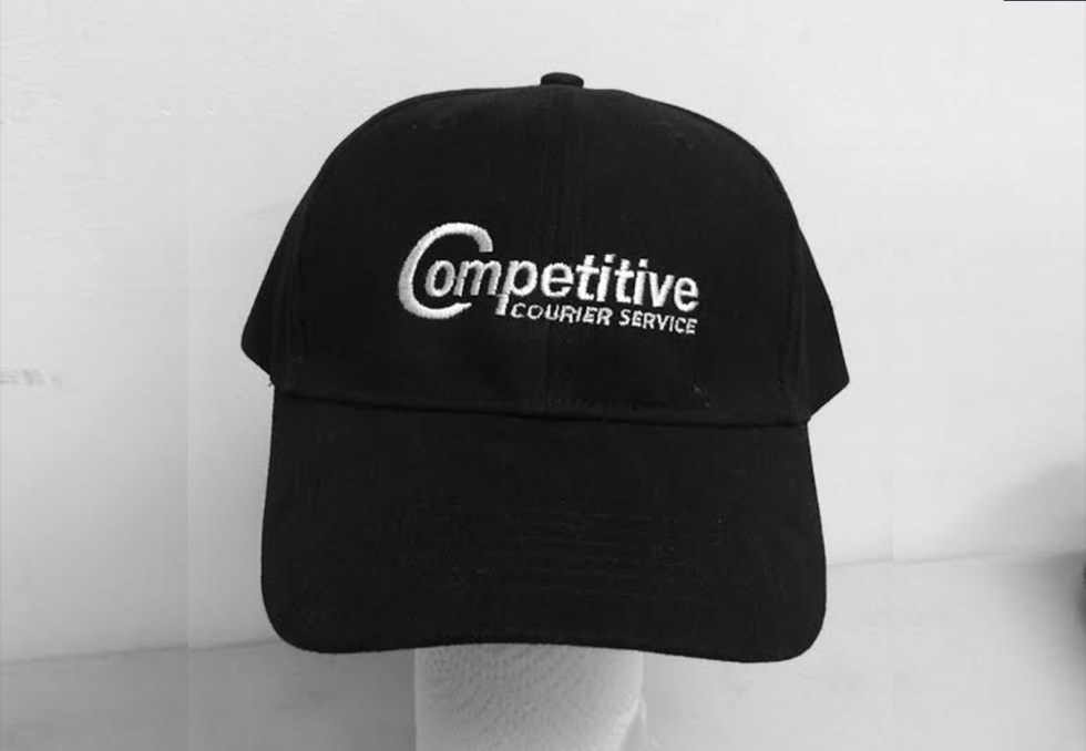 Embroidered Caps For Competitive Courier