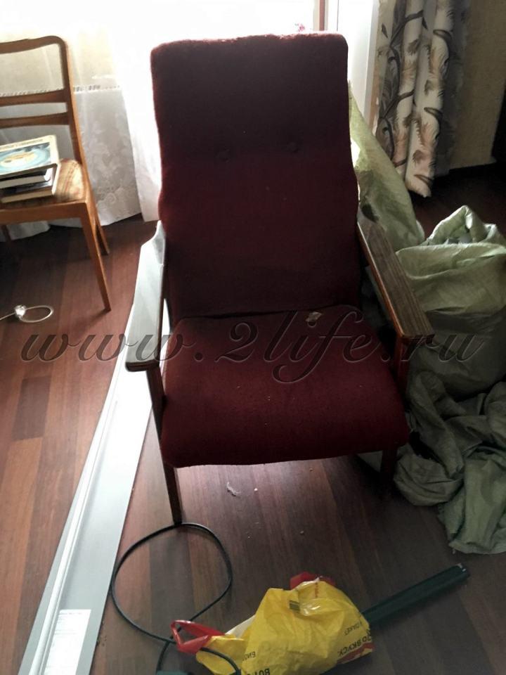 Советское кресло, 1960-1980 - до реставрации