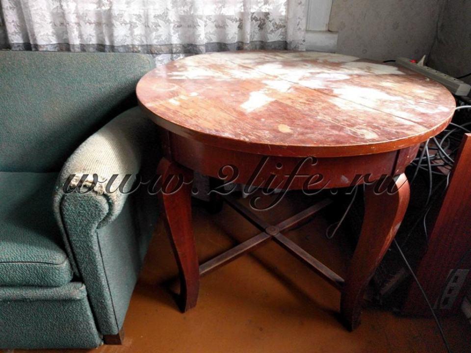 Обеденный раскладной стол, Россия, 1957 год. - До реставрации.