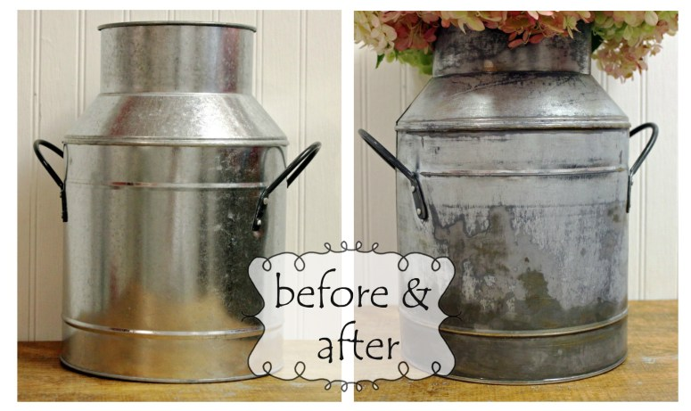 How to give galvanized metal an aged look