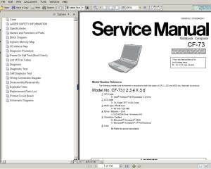 Panasonic TOUGHBOOK CF73 Notebook Computer CF73 Service