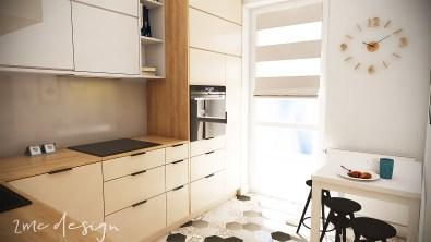 Kuchnia w bloku styl nowoczesny