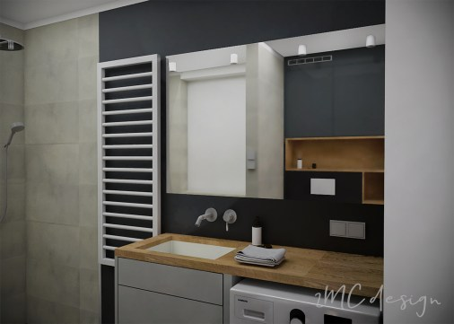 2MC design Nowoczesna łazienka