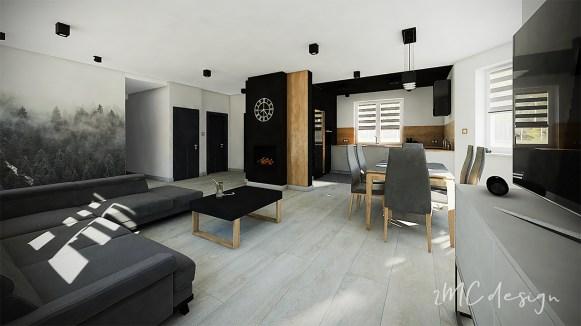 Salon styl minimalistyczny