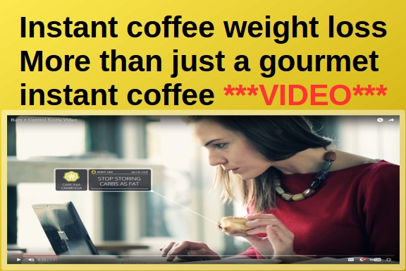 instant coffee weight loss