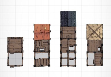 Wooden Watchtower; http://2minutetabletop.com/index.php/product/wooden-watchtower/