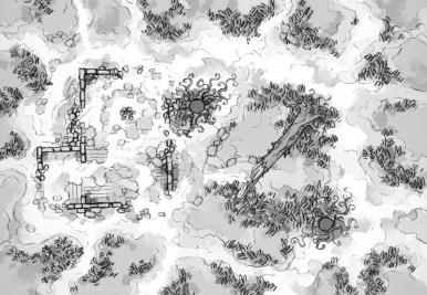Shifting Swamp (black & white)