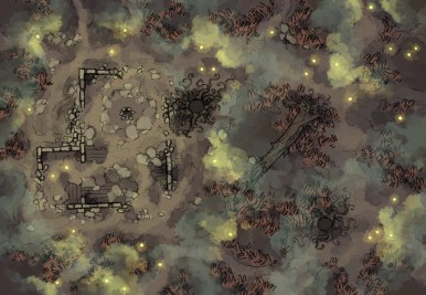 Shifting Swamp (fog fireflies)
